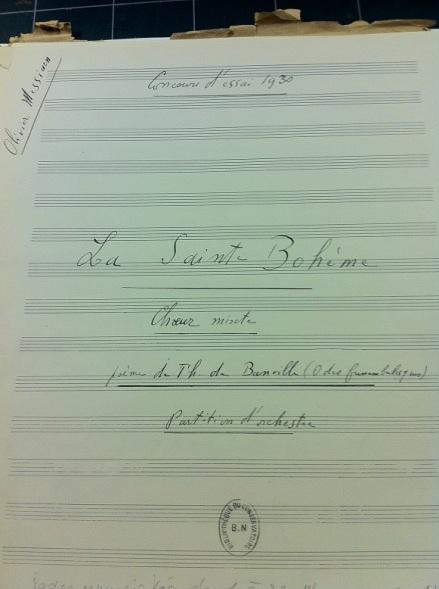 Messiaen Choeur titre